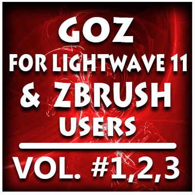 GoZ for Lightwave 11 and ZBrush Users Bundle Pack-Volume #1,2,3