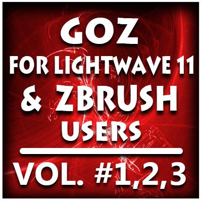 GoZ for Lightwave 11 and ZBrush Users Bundle Pack-Volume #1,2,3