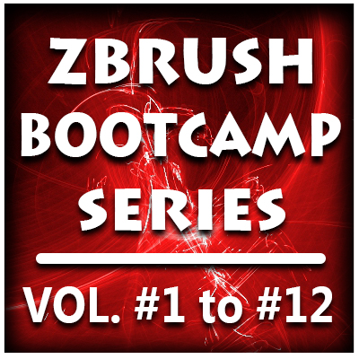ZBrush Bootcamp Series- Volumes #1 to #12 (PRE-BUY Special)
