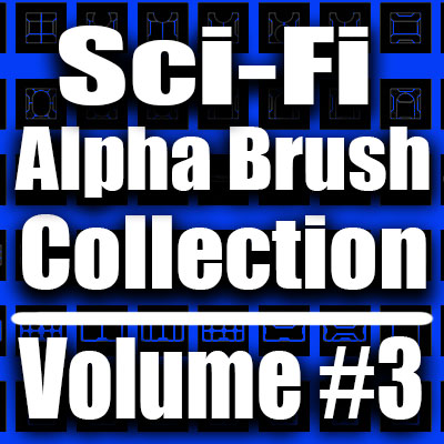 Sci-Fi Alpha Brush Collection- Volume #3